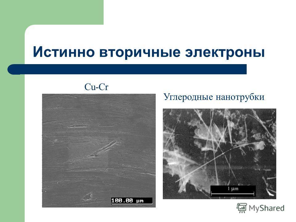 Истинно вторичные электроны Cu-Cr Углеродные нанотрубки
