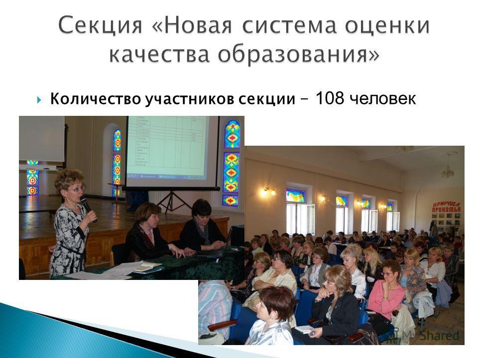 Количество участников секции – 108 человек