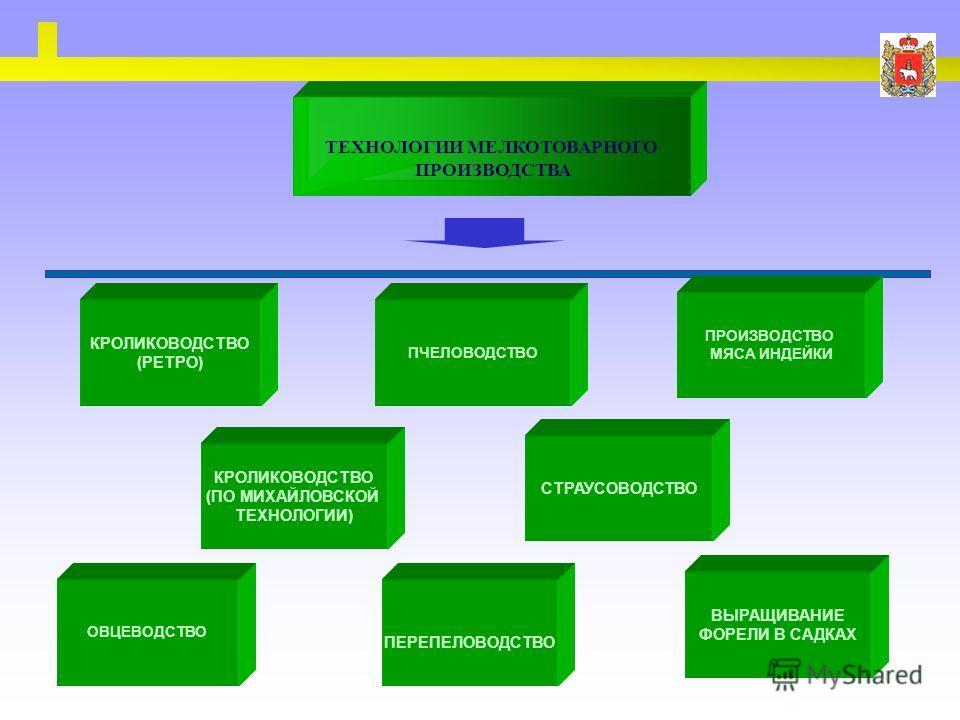 ТЕХНОЛОГИИ МЕЛКОТОВАРНОГО ПРОИЗВОДСТВА КРОЛИКОВОДСТВО (РЕТРО) ПЧЕЛОВОДСТВО ОВЦЕВОДСТВО ПРОИЗВОДСТВО МЯСА ИНДЕЙКИ ВЫРАЩИВАНИЕ ФОРЕЛИ В САДКАХ ПЕРЕПЕЛОВОДСТВО КРОЛИКОВОДСТВО (ПО МИХАЙЛОВСКОЙ ТЕХНОЛОГИИ) СТРАУСОВОДСТВО