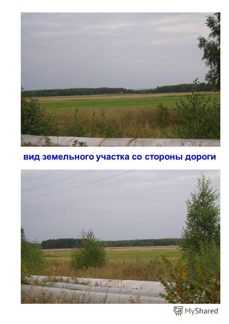 вид земельного участка со стороны дороги