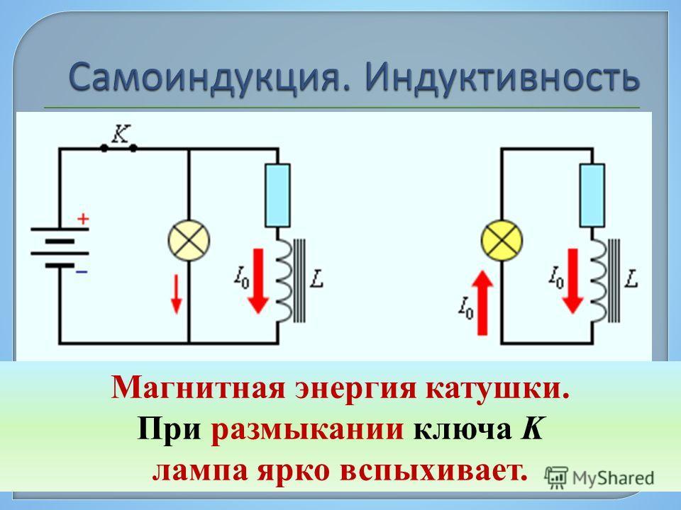 Самоиндукция является важным частным случаем электромагнитной индукции, когда изменяющийся магнитный поток, вызывающий ЭДС индукции, создается током в самом контуре. Единица индуктивности в СИ называется генри (Гн). 1 Гн = 1 Вб / 1 А Собственный магн