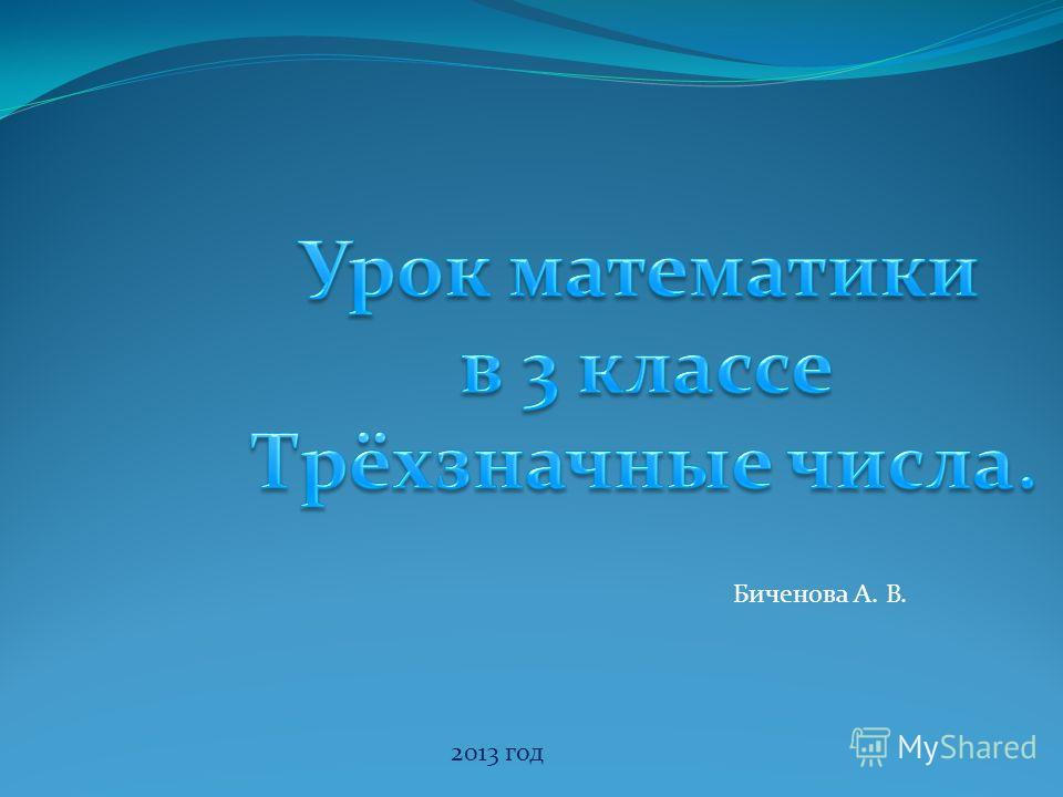 2013 год Биченова А. В.