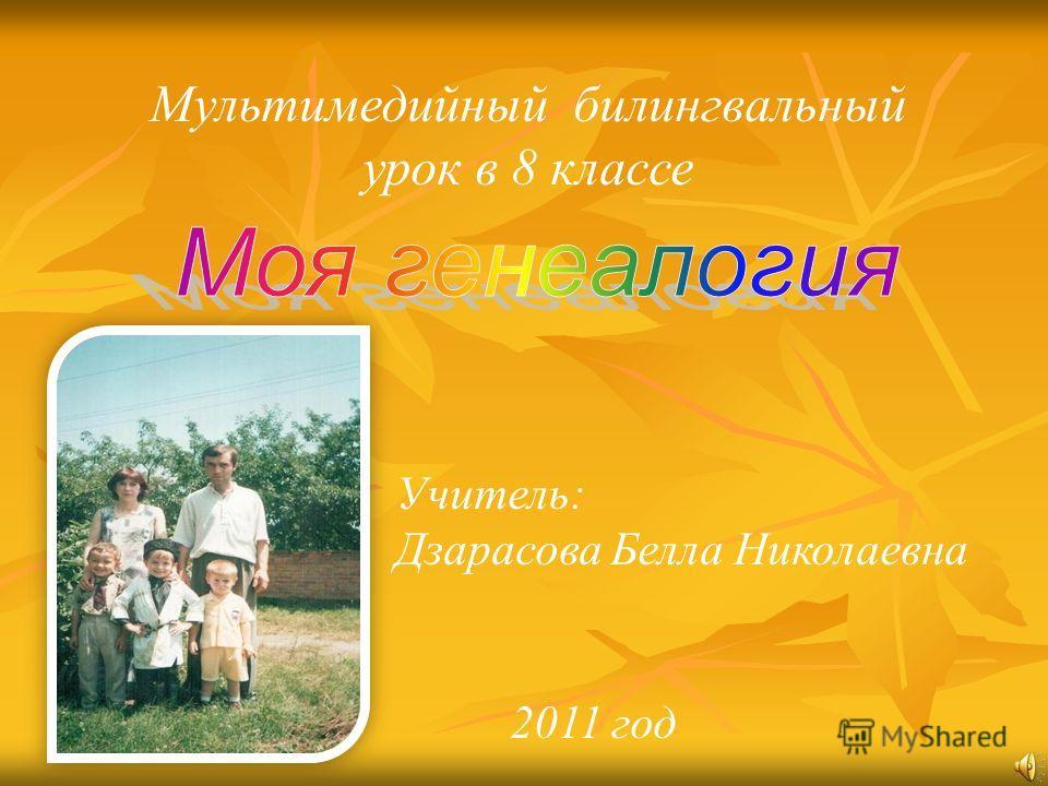 Мультимедийный билингвальный урок в 8 классе Учитель: Дзарасова Белла Николаевна 2011 год