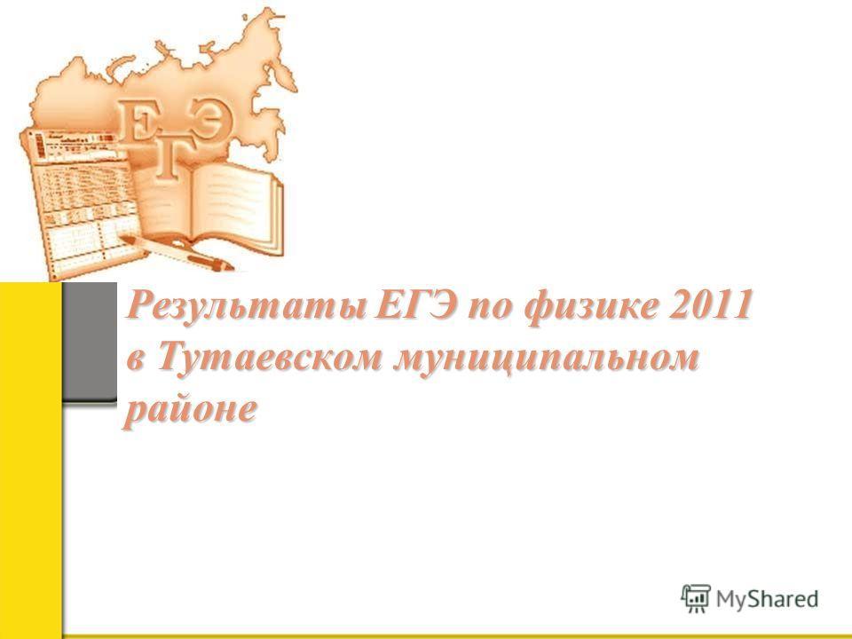Результаты ЕГЭ по физике 2011 в Тутаевском муниципальном районе Результаты ЕГЭ по физике 2011 в Тутаевском муниципальном районе