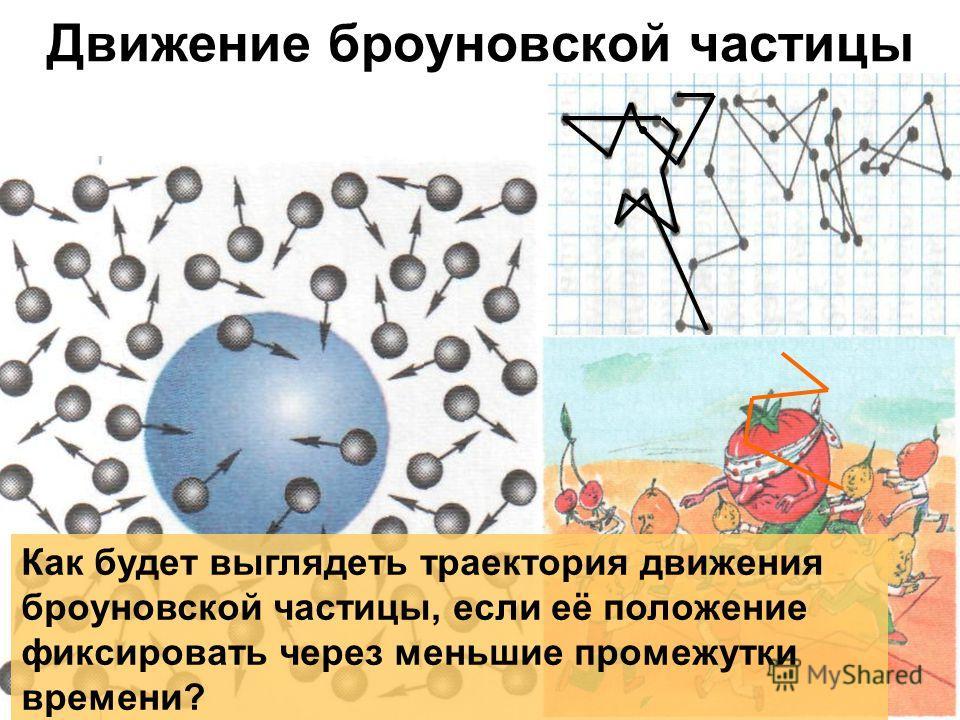 Движение броуновской частицы Как будет выглядеть траектория движения броуновской частицы, если её положение фиксировать через меньшие промежутки времени?