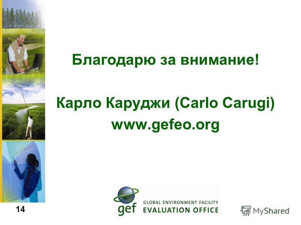 Благодарю за внимание! Карло Каруджи (Carlo Carugi) www.gefeo.org 14