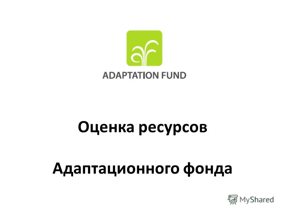 Оценка ресурсов Адаптационного фонда