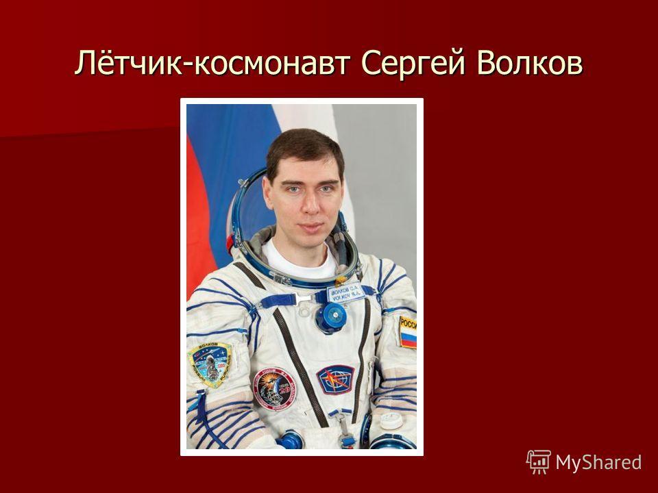 Лётчик-космонавт Сергей Волков