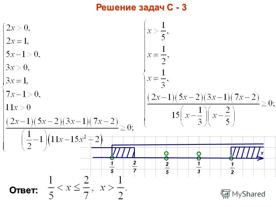 Решение задач С - 3 Ответ: