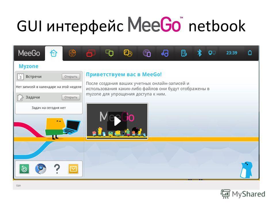 GUI интерфейс netbook
