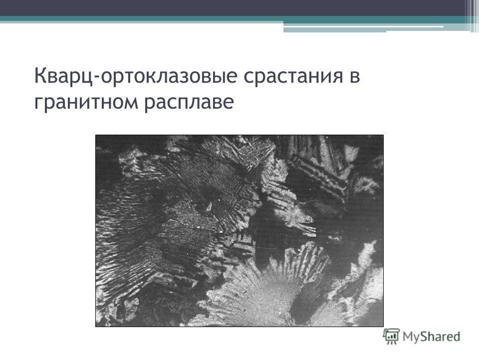 Кварц-ортоклазовые срастания в гранитном расплаве