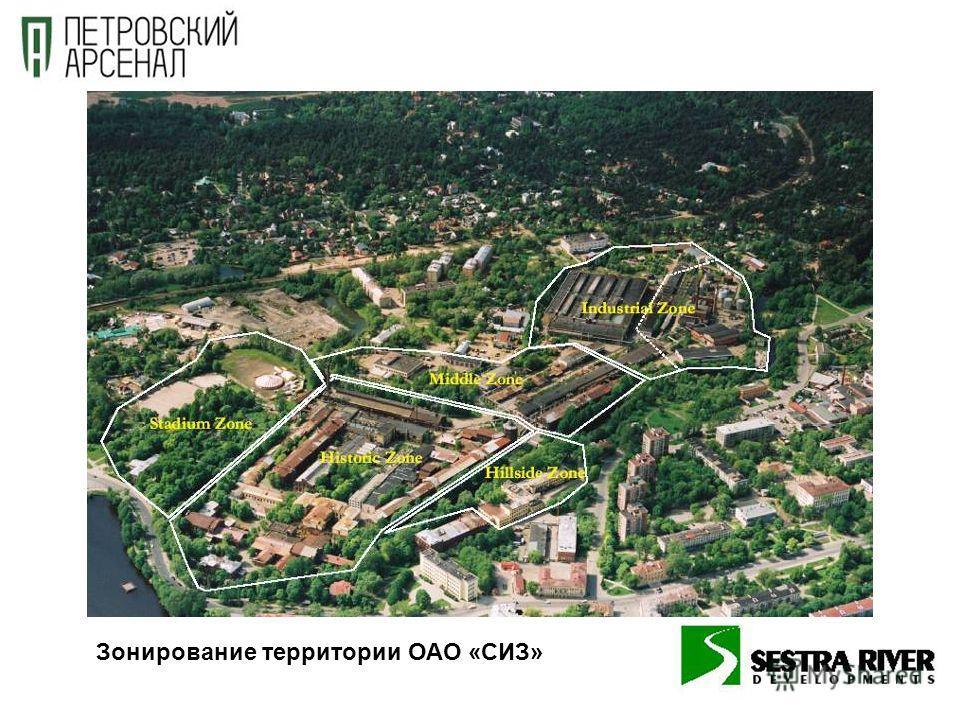 Зонирование территории ОАО «СИЗ»