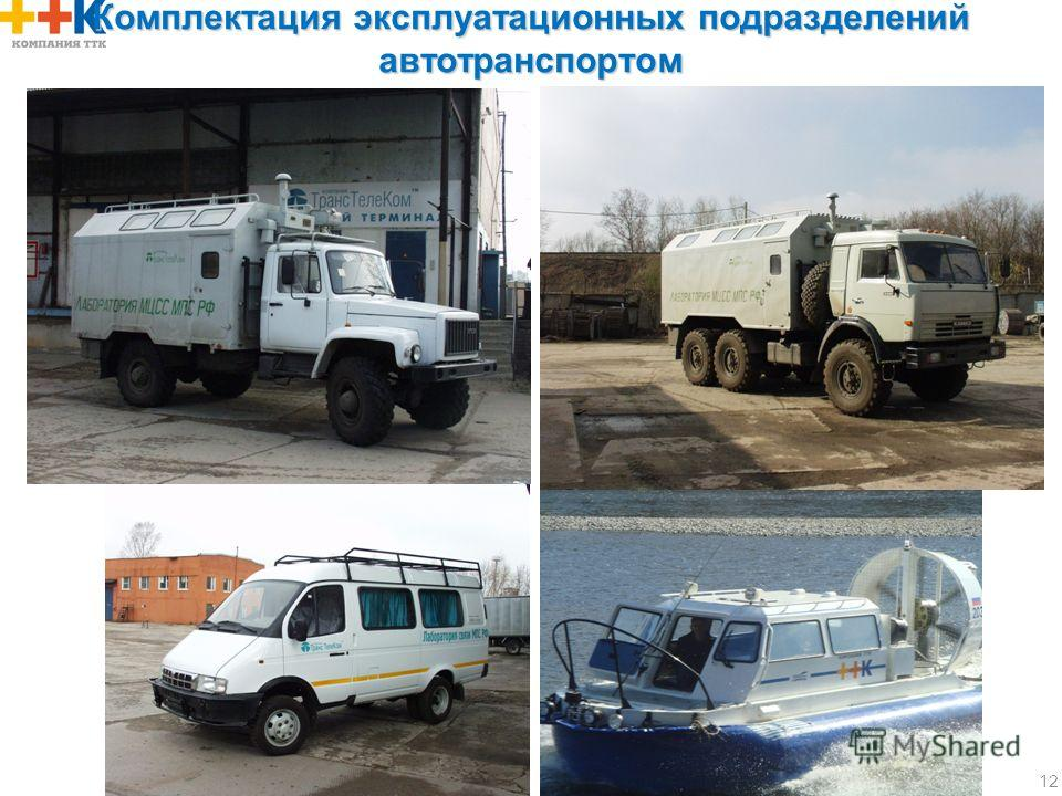 Комплектация эксплуатационных подразделений автотранспортом 12
