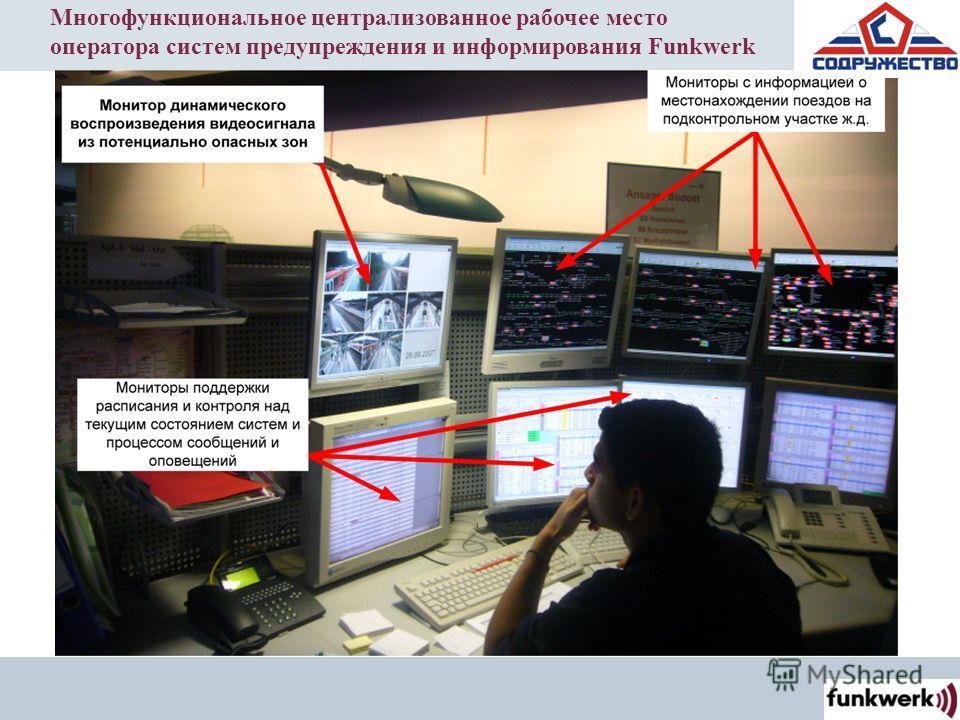 Многофункциональное централизованное рабочее место оператора систем предупреждения и информирования Funkwerk