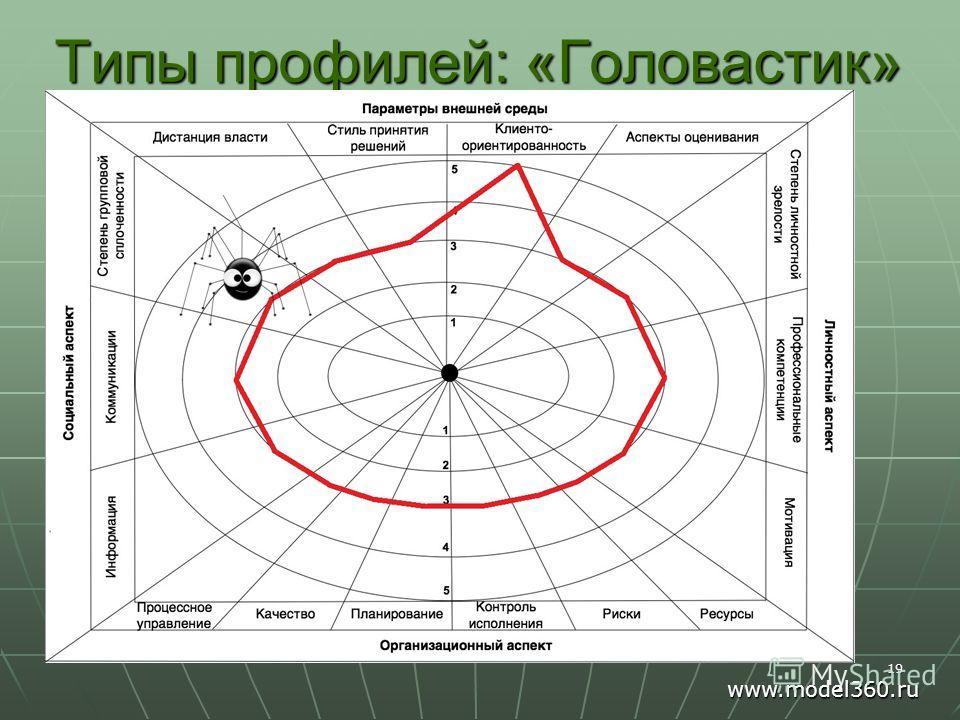 Типы профилей: «Головастик» 19 www.model360.ru