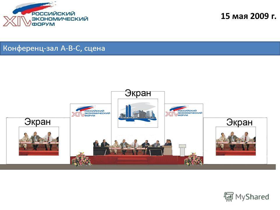 15 мая 2009 г. Конференц-зал А-B-C, сцена