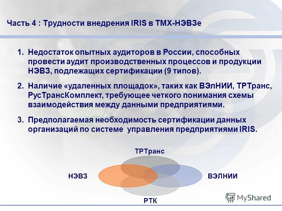 Do not put content in the brand signature area 1.Сотрудничество с консалтинговой фирмой «Центр Приоритет» в целях внедрения системе IRIS 2.НЭВЗ зарегистрирован на портале IRIS 3.Приобретен IRIS Audit-Tool и переведен на русский язык 4.Внедрение IRIS