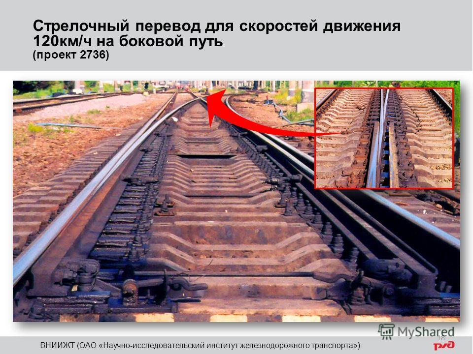 Стрелочный перевод для скоростей движения 120км/ч на боковой путь (проект 2736) ВНИИЖТ (ОАО «Научно-исследовательский институт железнодорожного транспорта») 18