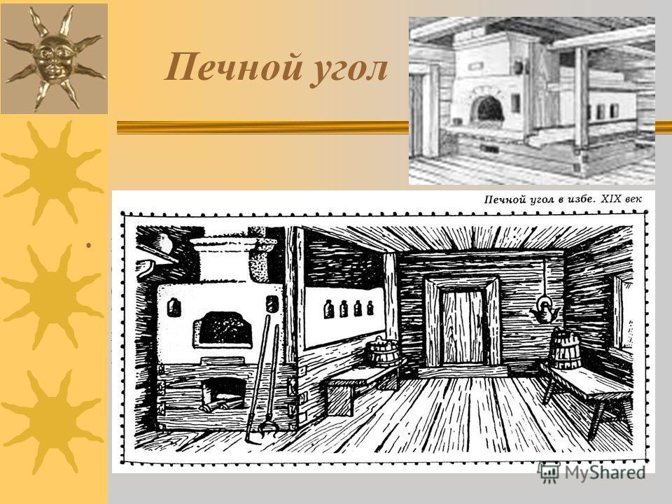 Печь Избы с печью слева от входа русские крестьянки пренебрежительно звали непряхами. Прясть обычно садились на долгую или бабью лавку, тянущуюся по противоположной длинной стене дома. И если бабья лавка находилась справа (при левом расположении печи