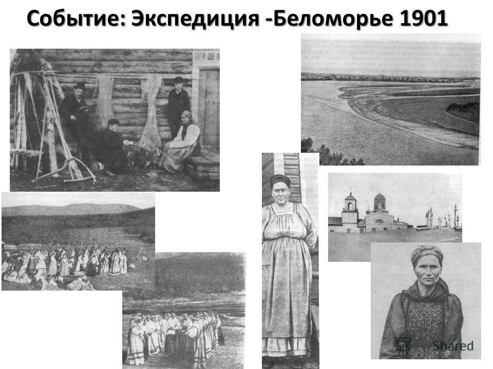 Событие: Экспедиция -Беломорье 1901