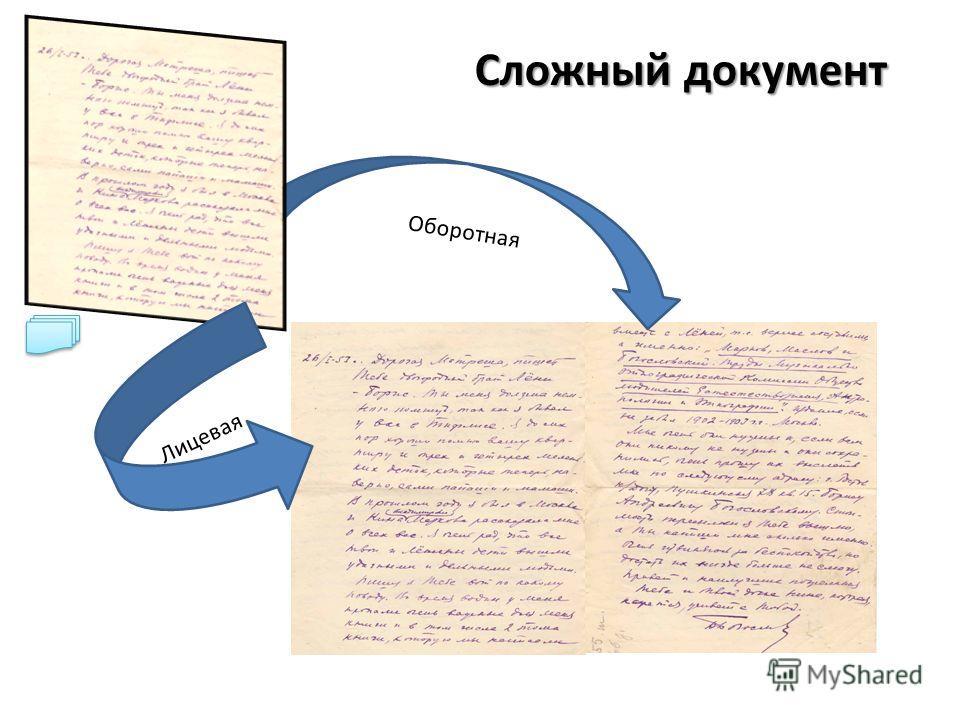Сложный документ Оборотная Лицевая