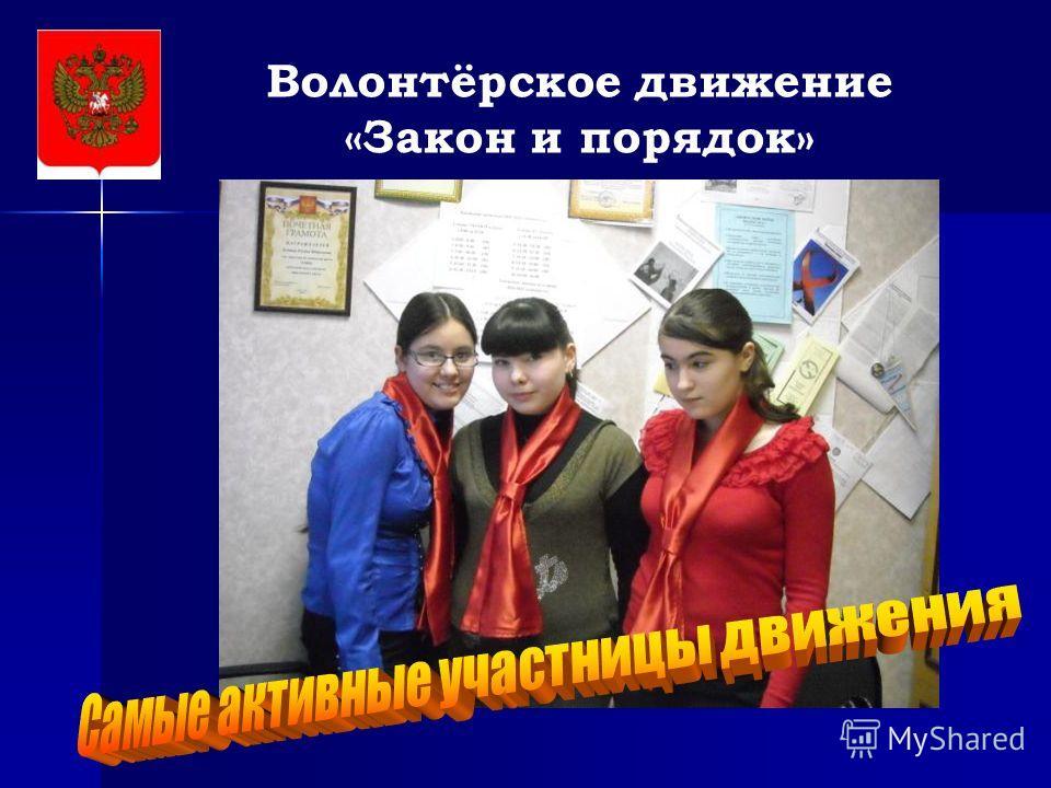 Волонтёрское движение «Закон и порядок»