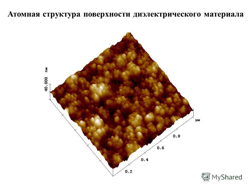 Атомная структура поверхности диэлектрического материала