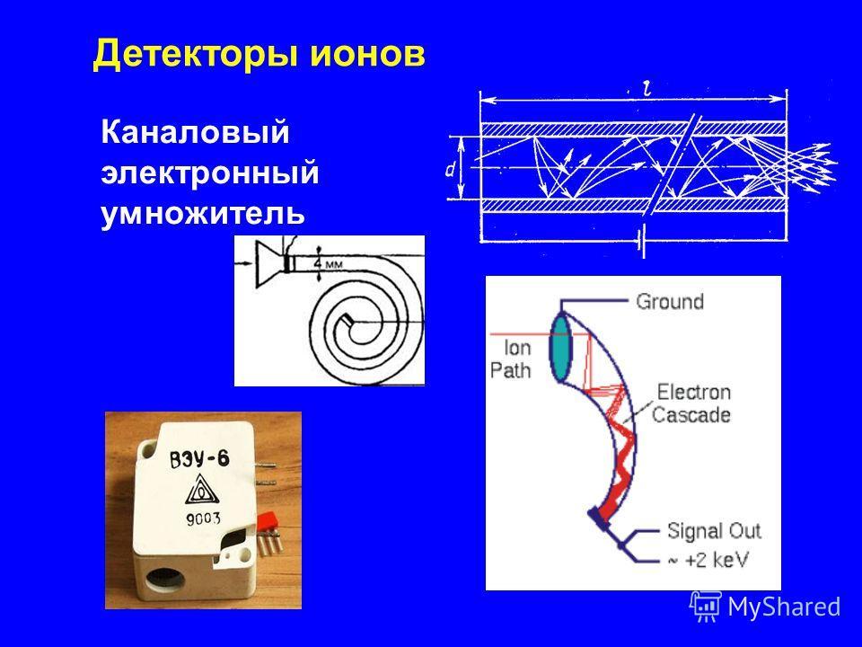 Каналовый электронный умножитель Детекторы ионов