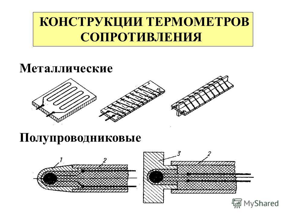 КОНСТРУКЦИИ ТЕРМОМЕТРОВ СОПРОТИВЛЕНИЯ Металлические Полупроводниковые