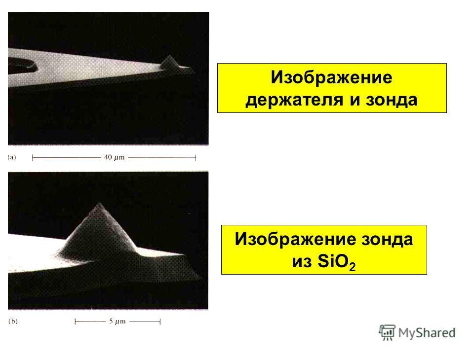 Изображение держателя и зонда Изображение зонда из SiO 2