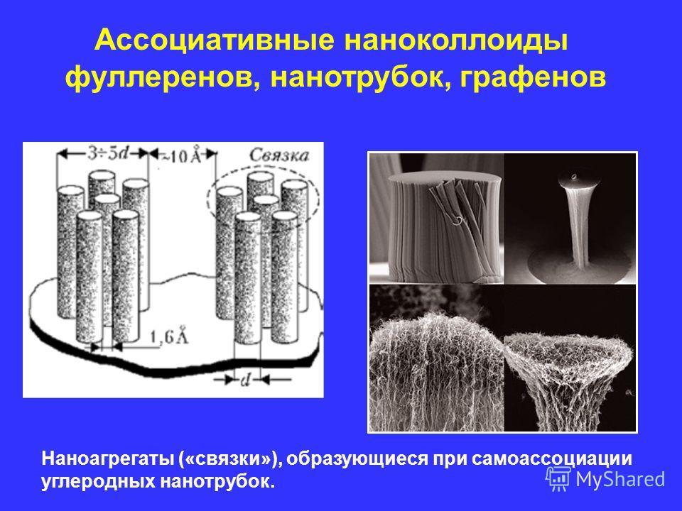 Наноагрегаты («связки»), образующиеся при самоассоциации углеродных нанотрубок. Ассоциативные наноколлоиды фуллеренов, нанотрубок, графенов