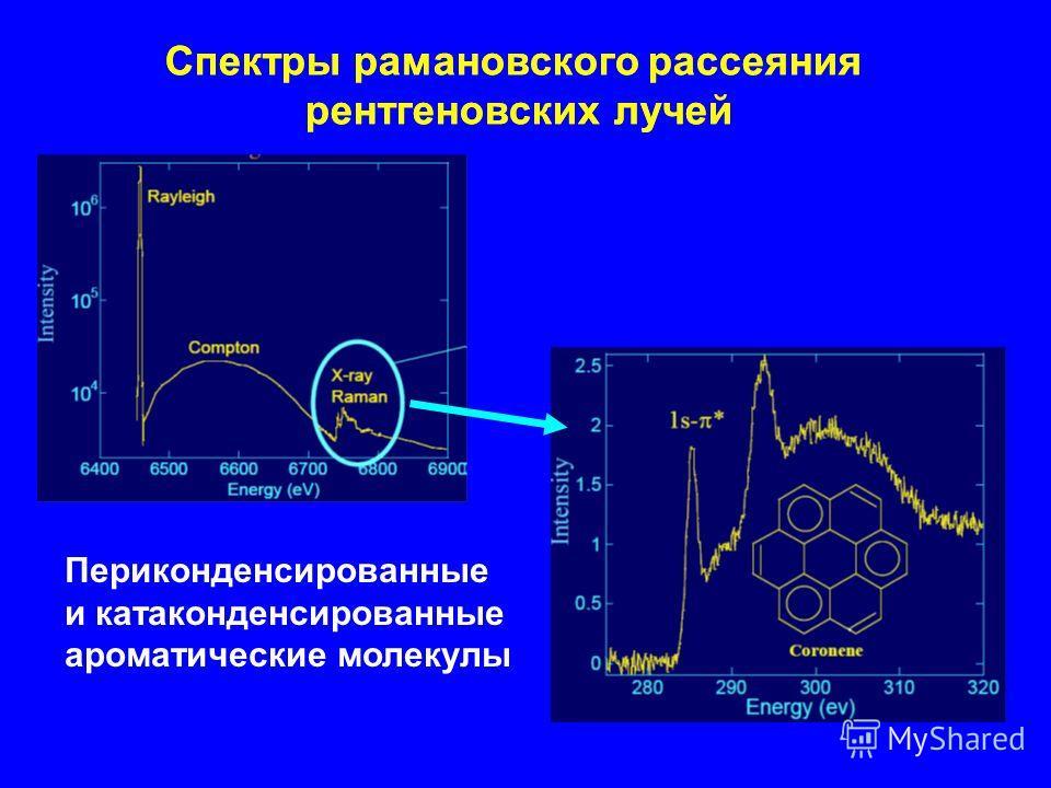 Спектры рамановского рассеяния рентгеновских лучей Периконденсированные и катаконденсированные ароматические молекулы Спектры рамановского рассеяния рентгеновских лучей