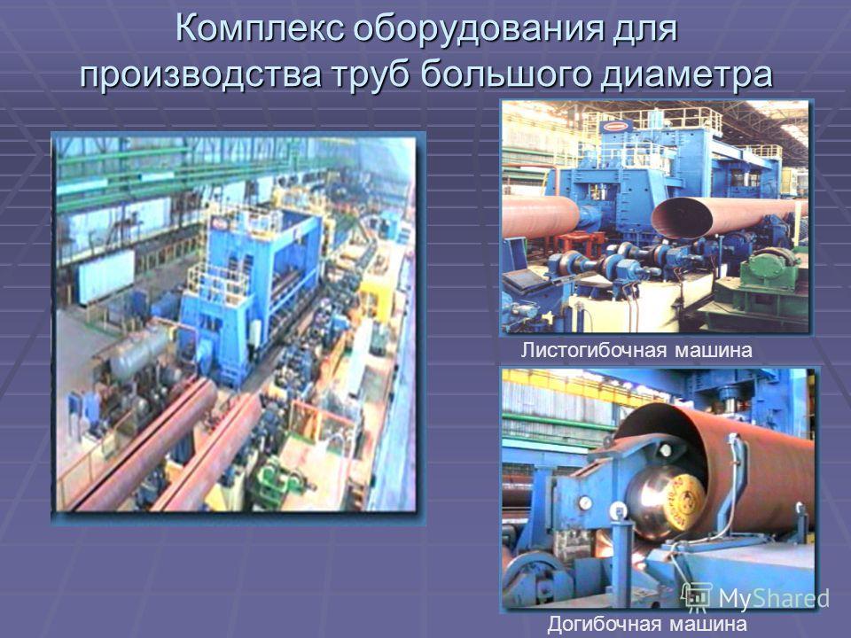 Комплекс оборудования для производства труб большого диаметра Листогибочная машина Догибочная машина