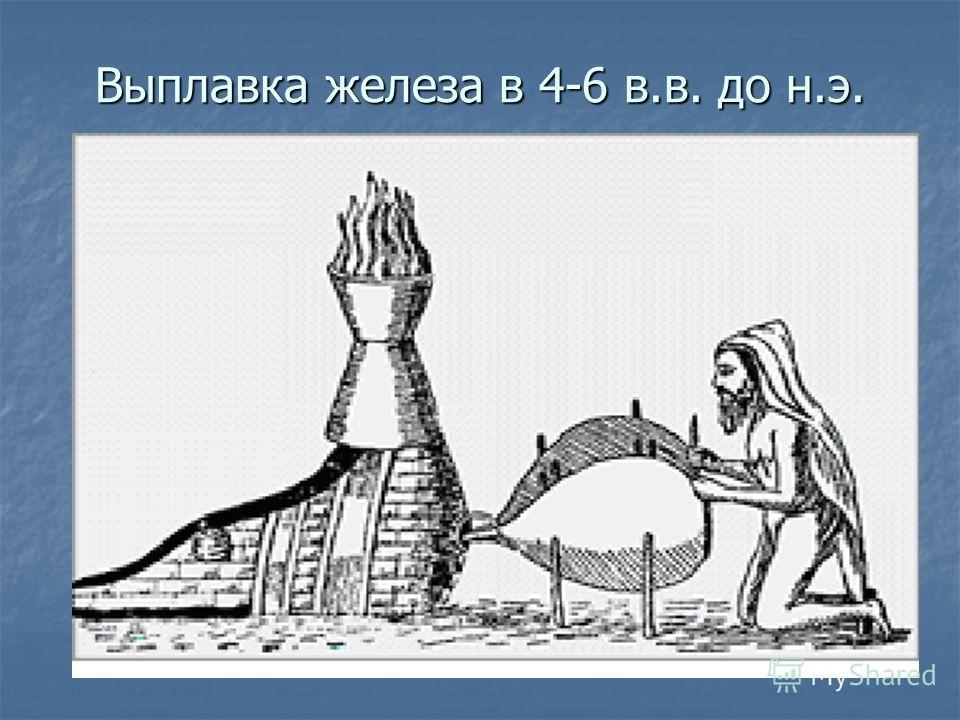 Выплавка железа в 4-6 в.в. до н.э.