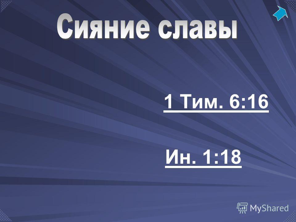 1 Тим. 6:16 Ин. 1:18