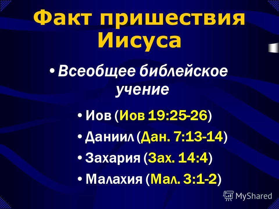 Второе пришествие Иисуса Время Терминология Факт Ошибочные взгляды Практичное применение