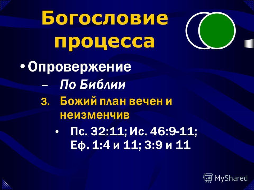–По Библии 2. Бог неизменчив Пс. 101:27-28 Пс. 32:11 Мал. 3:6 Иак. 1:17 Богословие процесса Опровержение