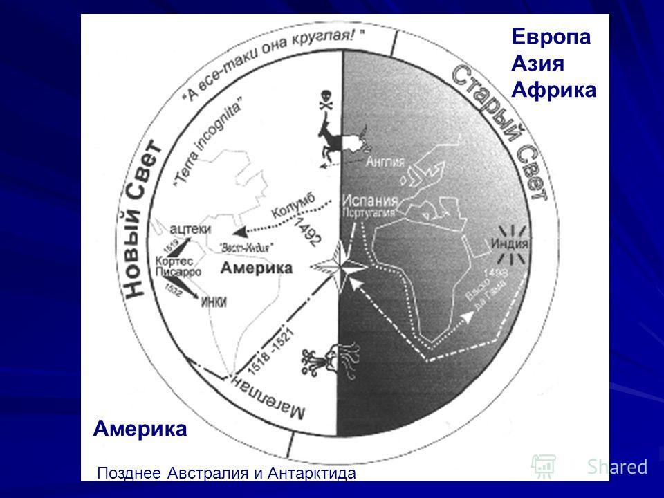 Европа Азия Африка Америка п Позднее Австралия и Антарктида