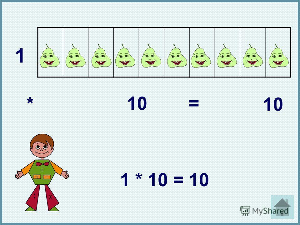 1 * 10 = 1 * 10 = 10 1. *. 10. =. 10. 1 * 10 = 10.