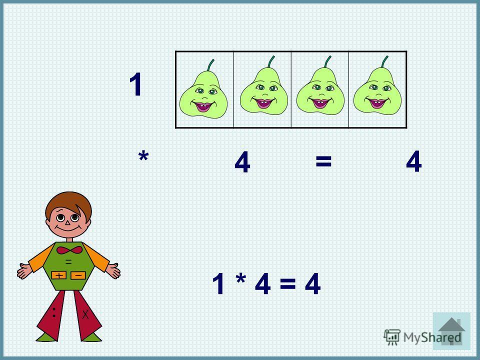 1 * 4 =4 1 * 4 = 4 1. *. 4. =. 4. 1 * 4 = 4.