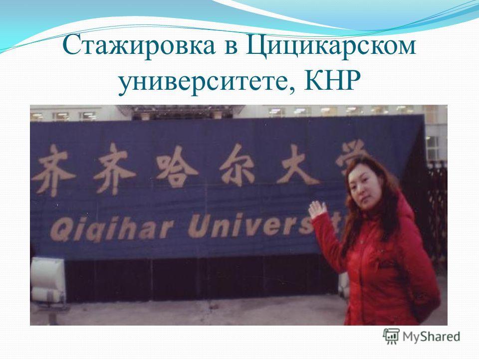 Стажировка в Цицикарском университете, КНР