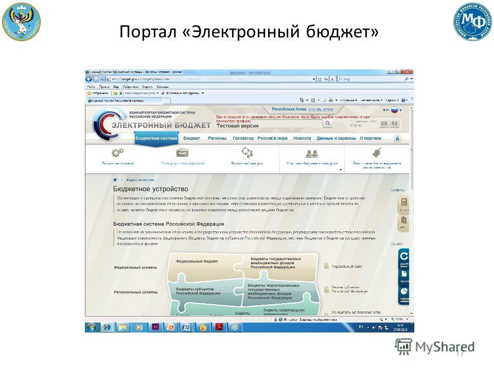 Портал «Электронный бюджет» 17