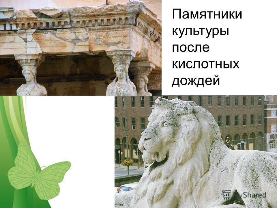 Free Powerpoint TemplatesPage 11 Памятники культуры после кислотных дождей