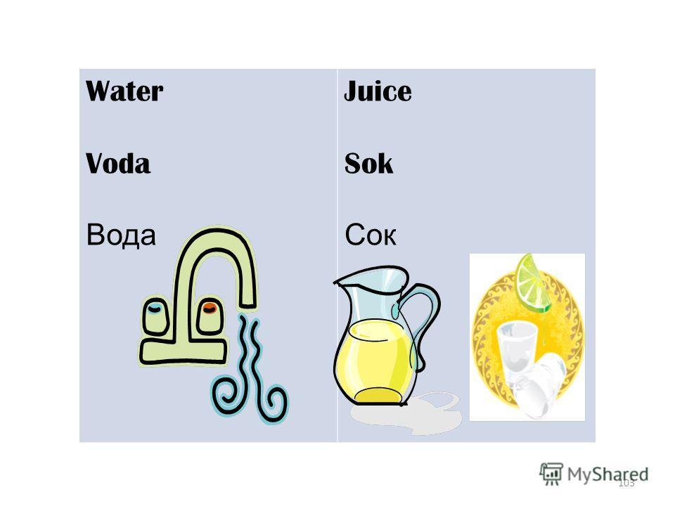 103 Water Voda Вода Juice Sok Сок