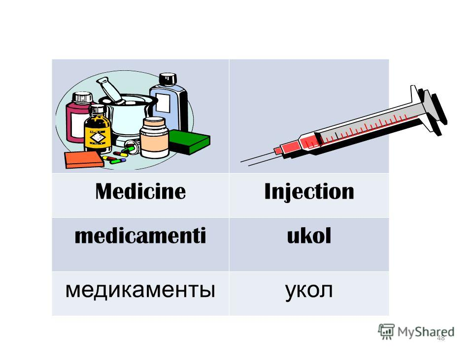 48 MedicineInjection medicamentiukol медикаментыукол
