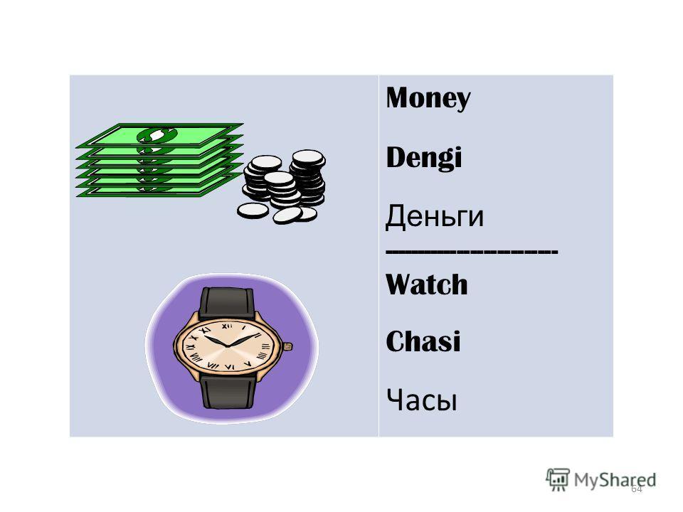 64 Money Dengi Деньги -------------------------- Watch Chasi Часы