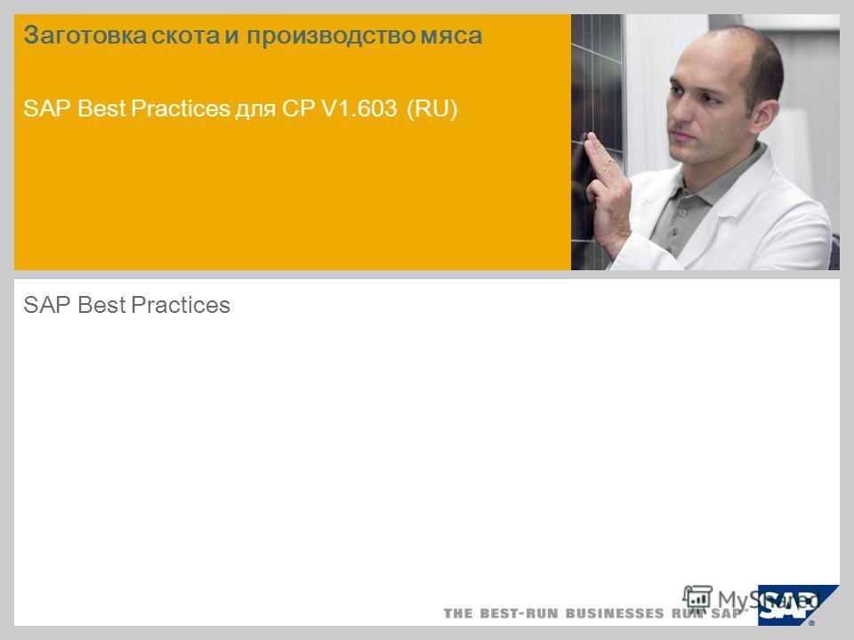 пример для рисунка на титульном слайде Заготовка скота и производство мяса SAP Best Practices для CP V1.603 (RU) SAP Best Practices