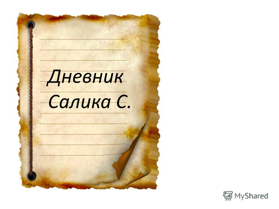 Дневник Салика С.