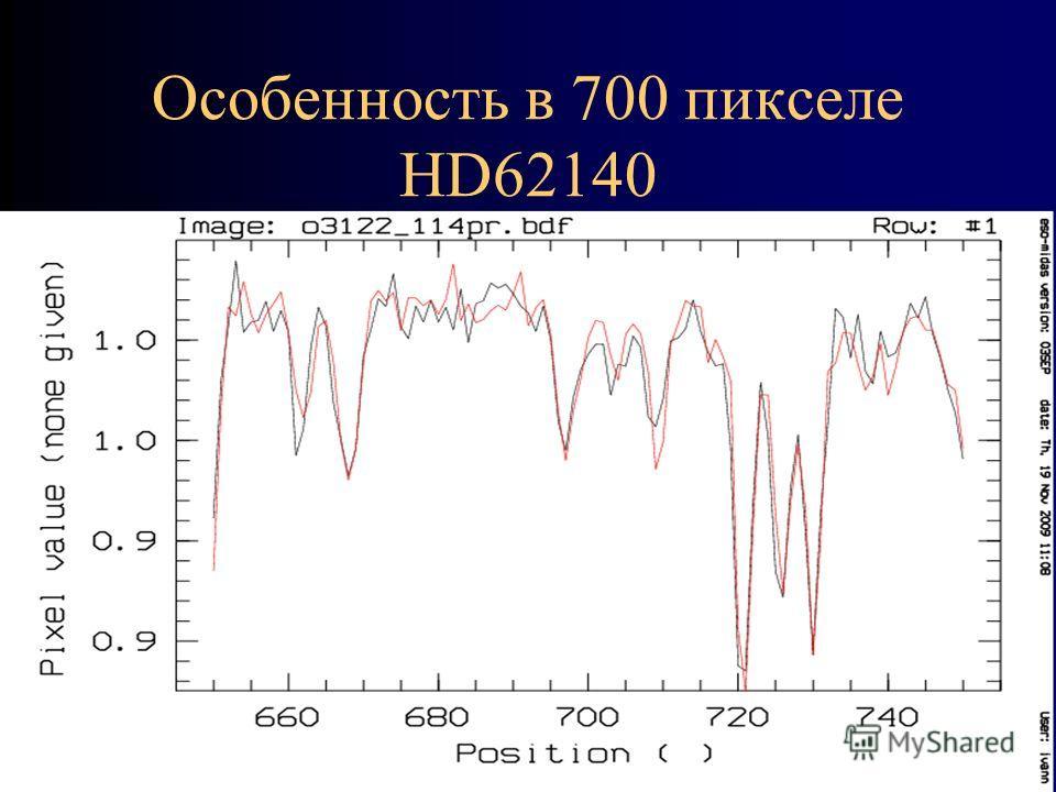 Особенность в 700 пикселе HD62140