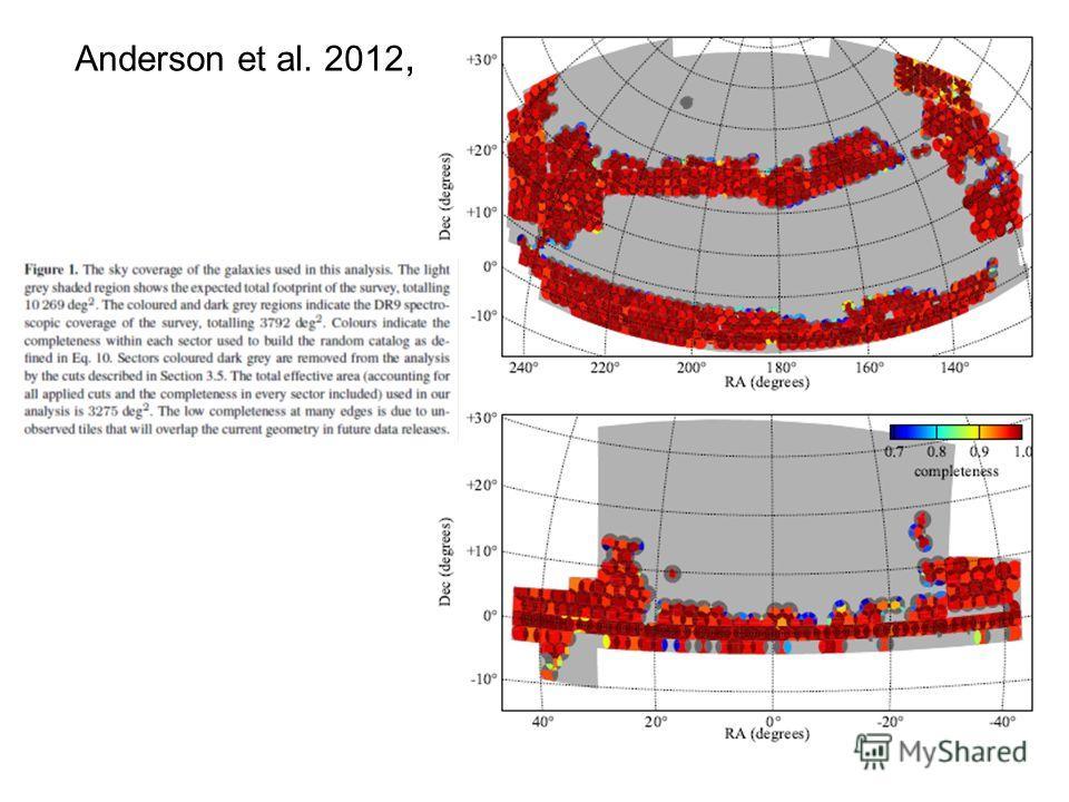 Anderson et al. 2012, MNRAS, 427, 3435